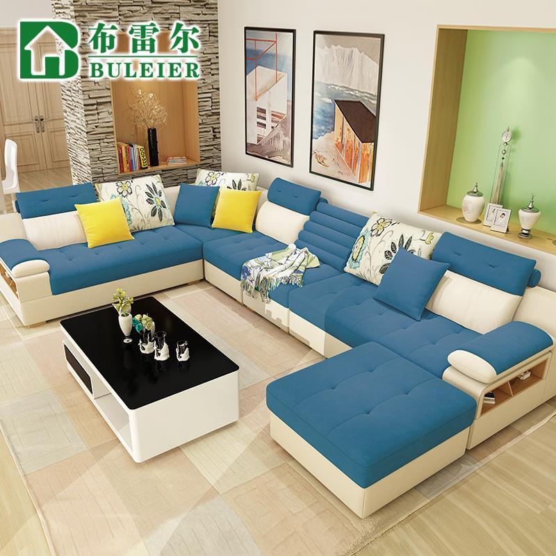 布雷爾布藝沙發 大小戶型 沙發可拆洗布沙發麻布沙發