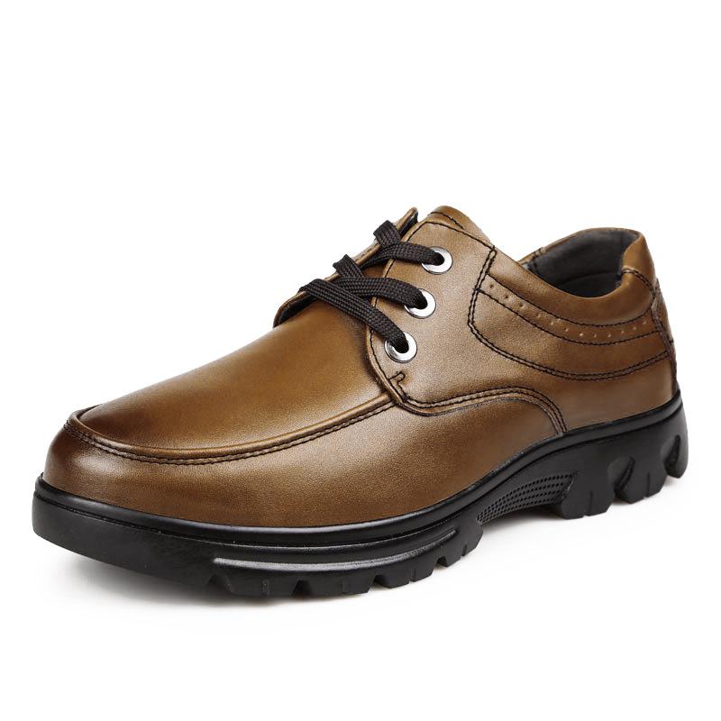 2018新型快適男性靴ビジネスカジュアル革靴本革正装皮靴男性ストラップブラウン黒ダービー