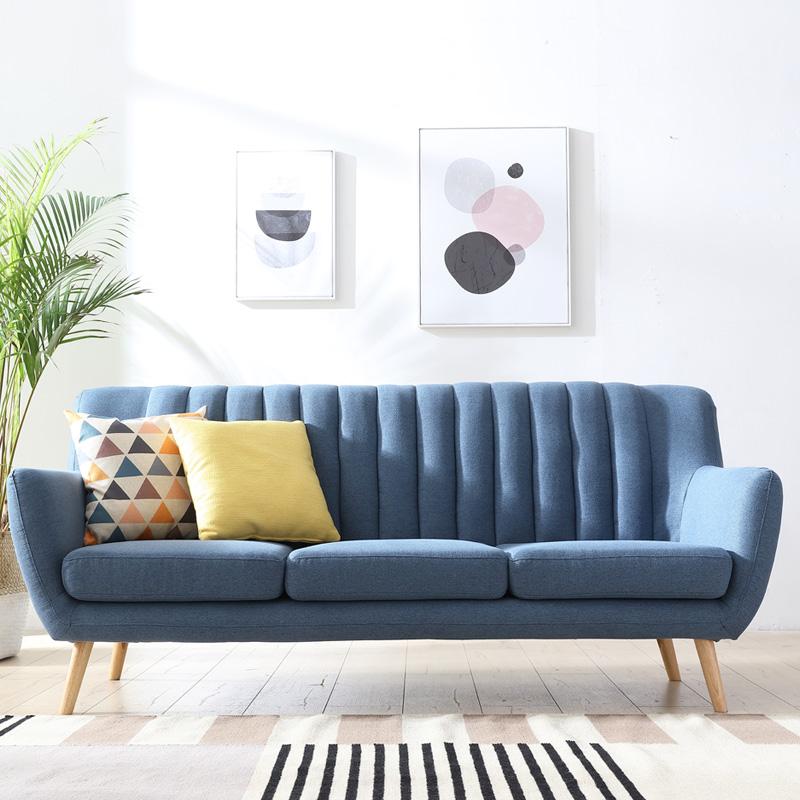 设计师款北欧艺术布艺沙发小户型客厅时尚创意个性两人座双三人位券后1190.00元