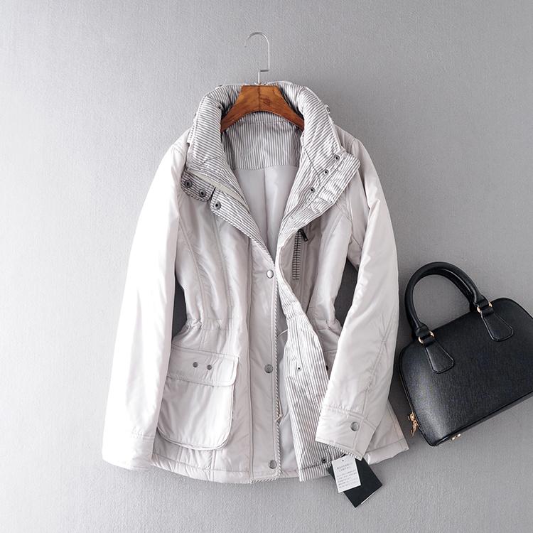 Новые женщины в корейской версии простой моды на осень/зима длинное пальто хлопка для похудения тонкий сплошной цвет пальто
