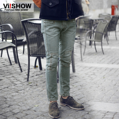 Viishow autumn new denim trousers washed pants man in Europe and America straight skinny jeans men's pants