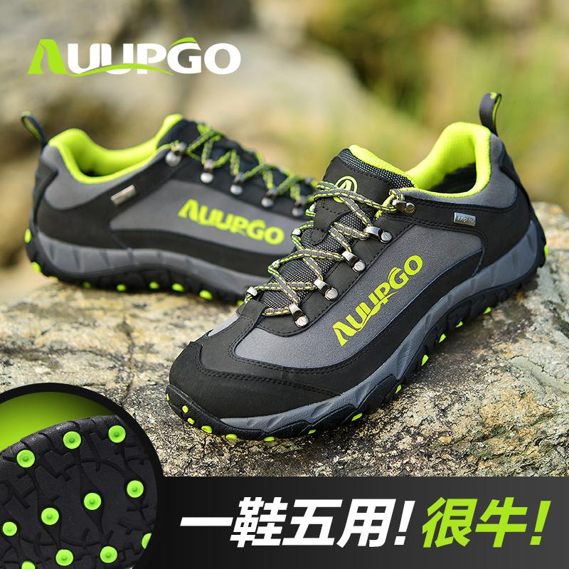 Осенние походы обувь Мужская водонепроницаемый Открытый Пешие прогулки обувь не скользят, износостойкие внедорожных езда Рыбалка обувь