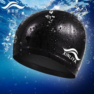 Genuine swimming cap Naples head waterproof PU coating ear hair large swimming cap hat men and women