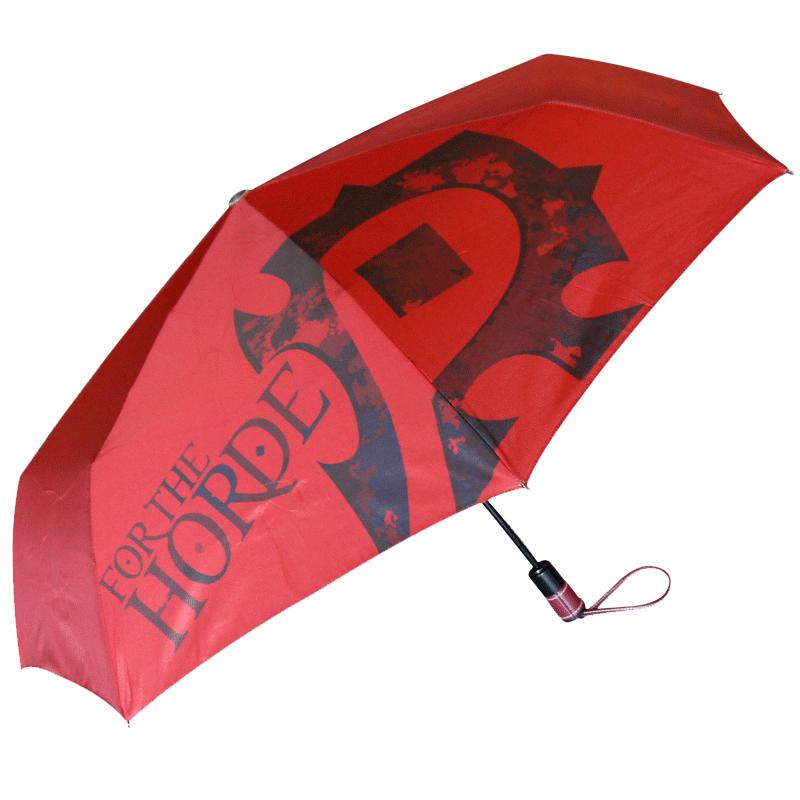 魔獸世界周邊 魔獸雨傘部落版 三折印花折疊開全自動傘 魔獸周邊