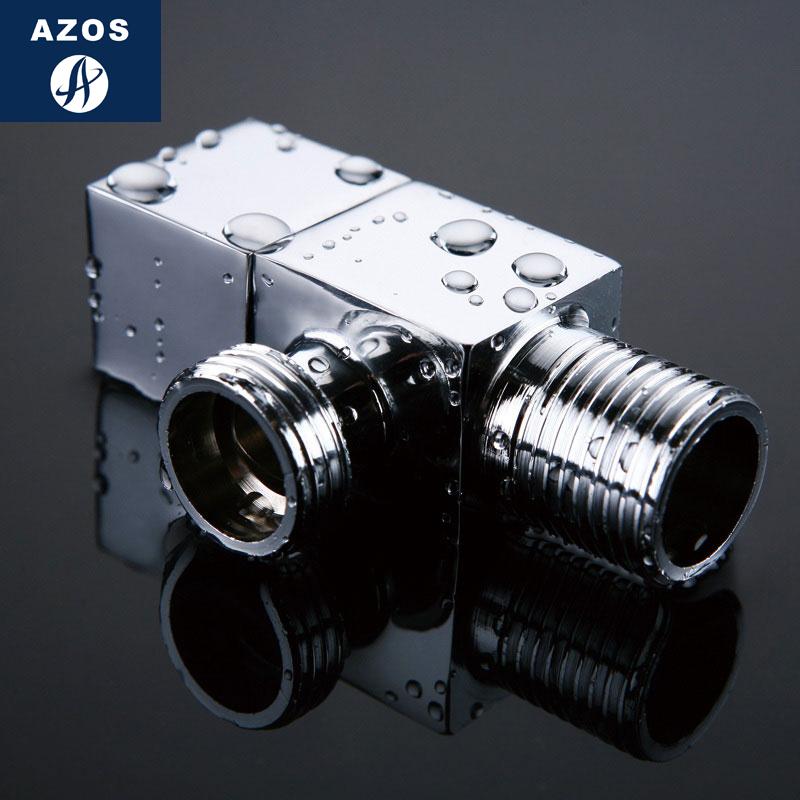 AZOS квадрат угол все медь треугольник клапан водомодель устройство душ только клапан горячая и холодная общий утолщённый четыре филиал туалет клапан