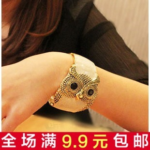 European and American female owl retro bracelet broadside Korean fashion personality exaggerated opening South Korea small jewelry wholesale