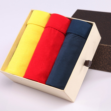 Lover of men's underwear Thin air in the summer of modal youth pants are sexy pure color boxers gift boxes