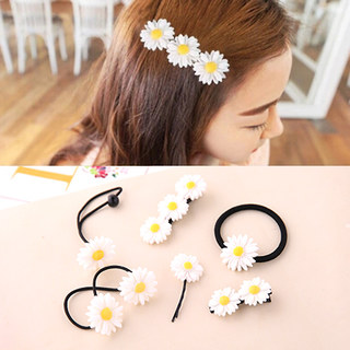 Know Connie hair accessories Korean string rope Korea hair accessories are Daisy hair clip clip Clip rubber band rings