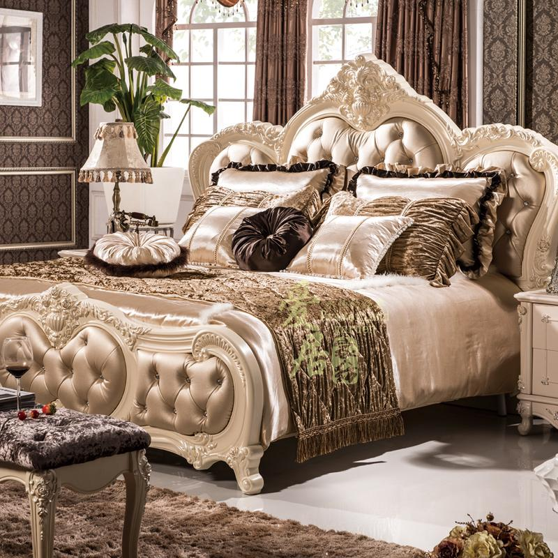 French European bedding four piece suit new classic high grade exhibition hall model room model room bedding customization