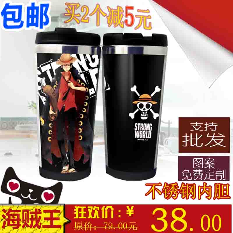 ПОП Кубок Evangelion Аниме Кубок Луффи рука нержавеющей стали изолированные горшок стекло бутылку воды бутылка воды