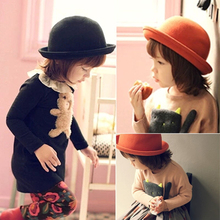 New winter han edition winter fashion small dome baby children's hats color candy? Small basin of dome cap