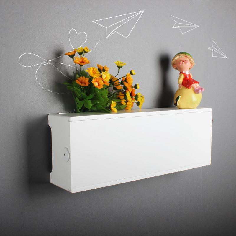 简单日子电线收纳盒接线板排插座遮挡盒集线盒壁挂墙装饰保护开门