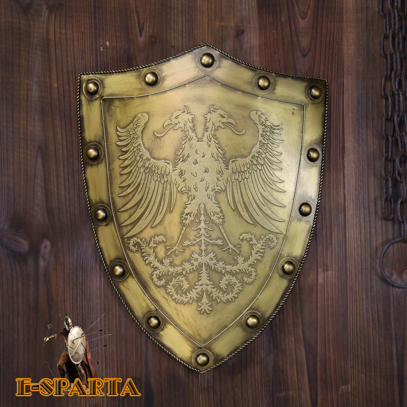 Direct selling process Antique medieval armor warrior shield retro nostalgic bar corridor study wall decoration