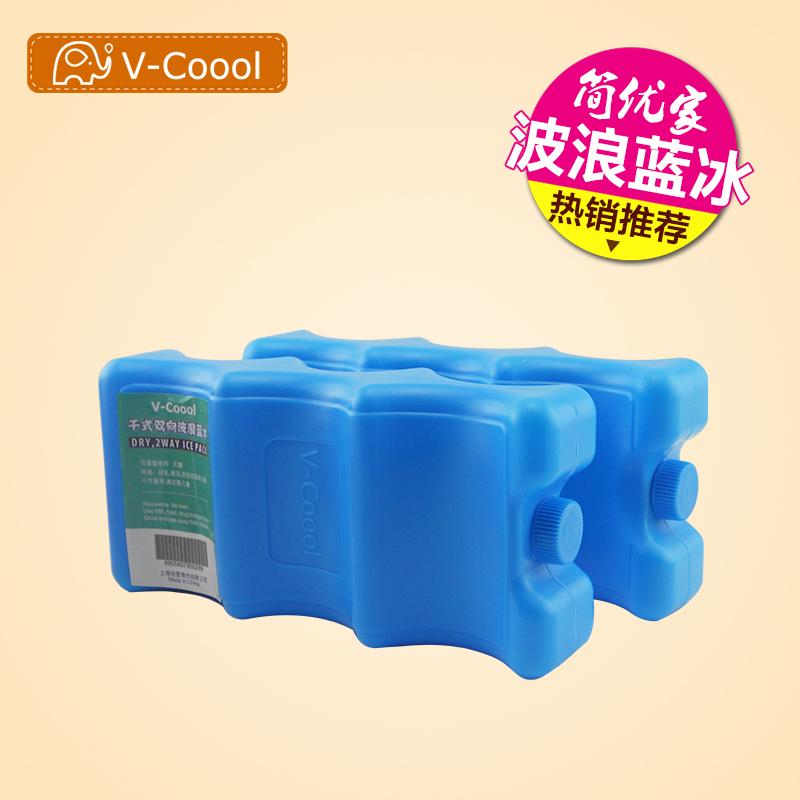 【600мл / 2 штук 】 аутентичные синий лед V-COOOL волны синий лёд лед коробка мать молоко сохранение охлаждение вода