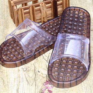 夏季韩版可爱情侣防滑漏水晶家居家按摩塑料男女洗澡冲凉浴室拖鞋