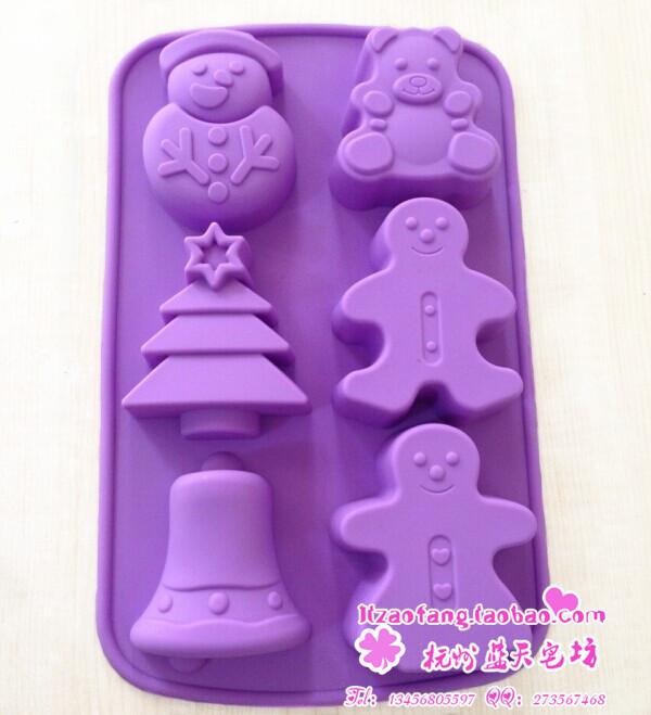 XJ118 силиконовые торт формы выпечки прессформы плюшевого мишку рождественские подарки комбинированные умереть