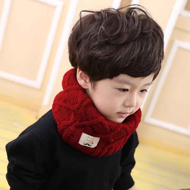 兒童圍巾 男女童小童加厚保暖脖套寶寶毛線套頭圍脖潮