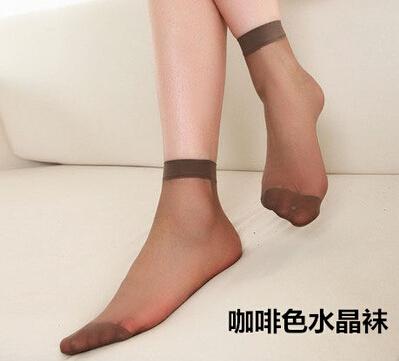 Four seasons comfortable summer womens ultra-thin silk stockings 10 pairs of coffee crystal socks womens socks