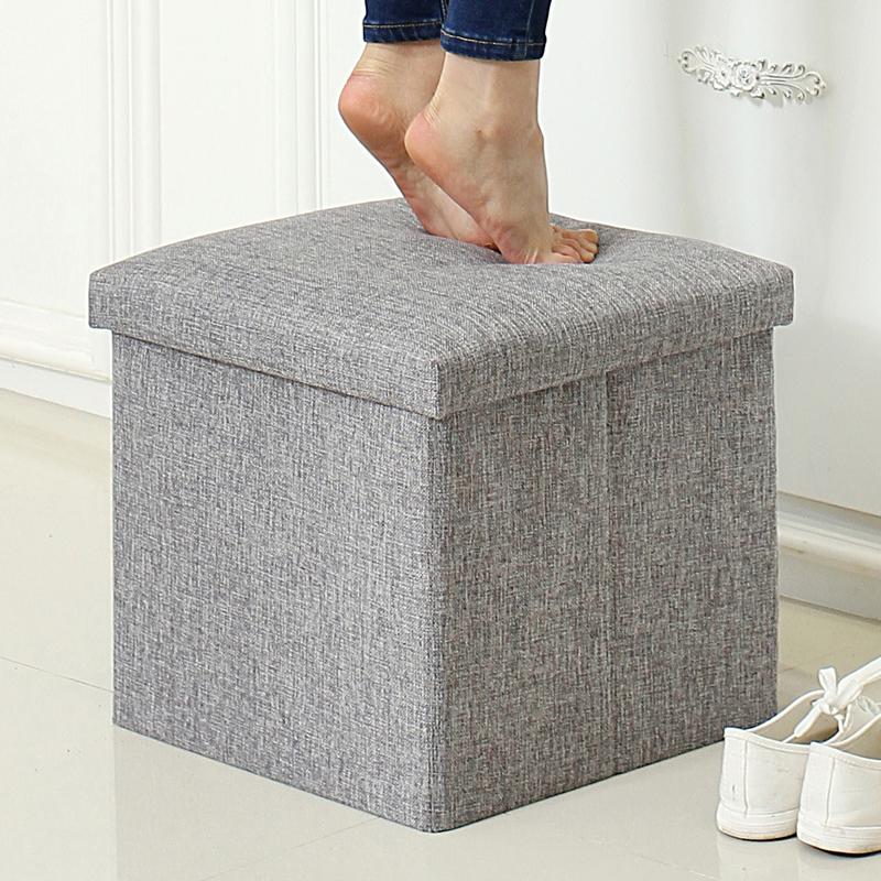 Друг принимать хранение табуретка хранение стул может сидеть диван сложить ткань игрушка хранение многофункциональный хранение менять обувь стул