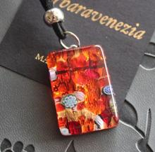Quality goods import BV Italian MURANO glass red 24 k gold earrings pendant necklace set