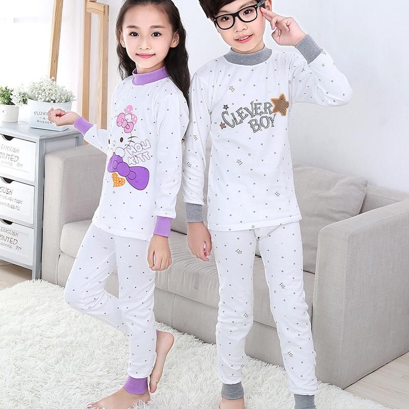 兒童純棉全棉保暖內衣套裝