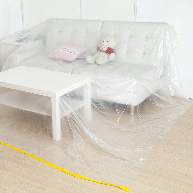 11月14日最新优惠塑料薄膜防尘罩盖布沙发防尘套防灰尘隔脏盖家具的防尘床罩遮盖布