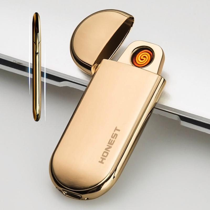 Тонкий ветролом зарядка usb зажигалка электронный зажигалку посыльный друг личность творческий надпись танабата подарок