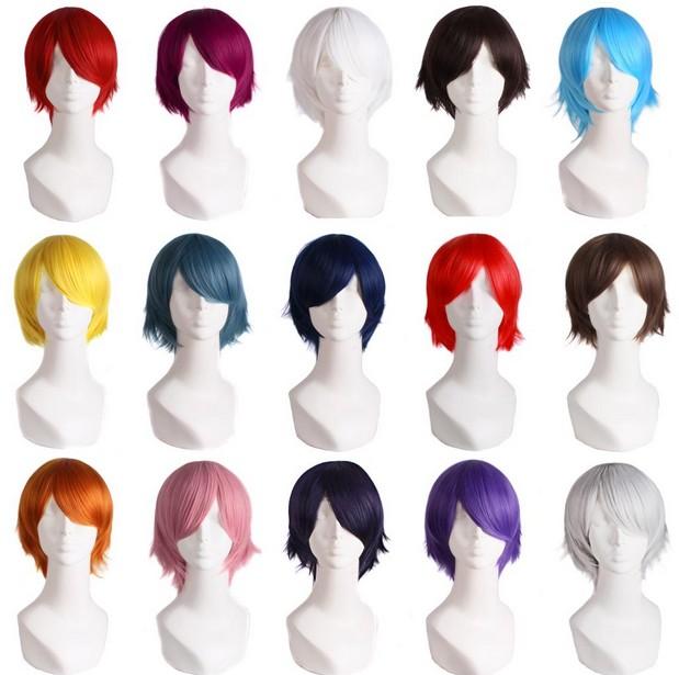 Универсальный Весна COS Лелуш Косплей аниме парик короткий красный коричневый Серебряный оранжевый порошок цвет COS мужчин