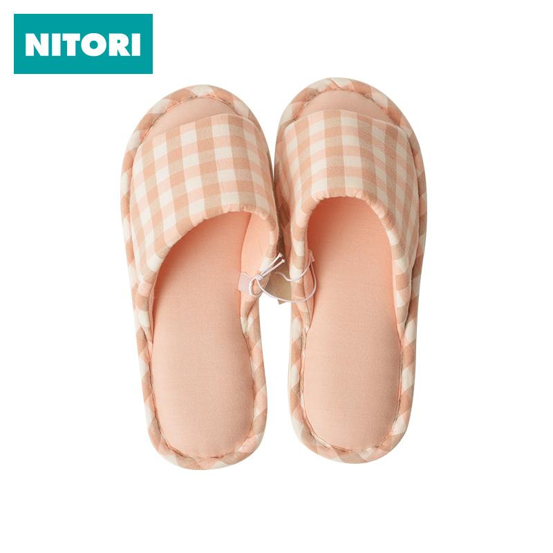 Япония NITORI нигерия достигать прибыль комнатный домой шлепанцы весна хлопок плед трейлер слово торможение модельа стиль
