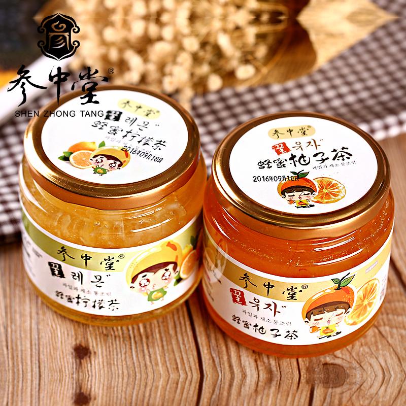 參中堂蜂蜜柚子茶500g 檸檬茶500g韓國風味水果茶衝飲品