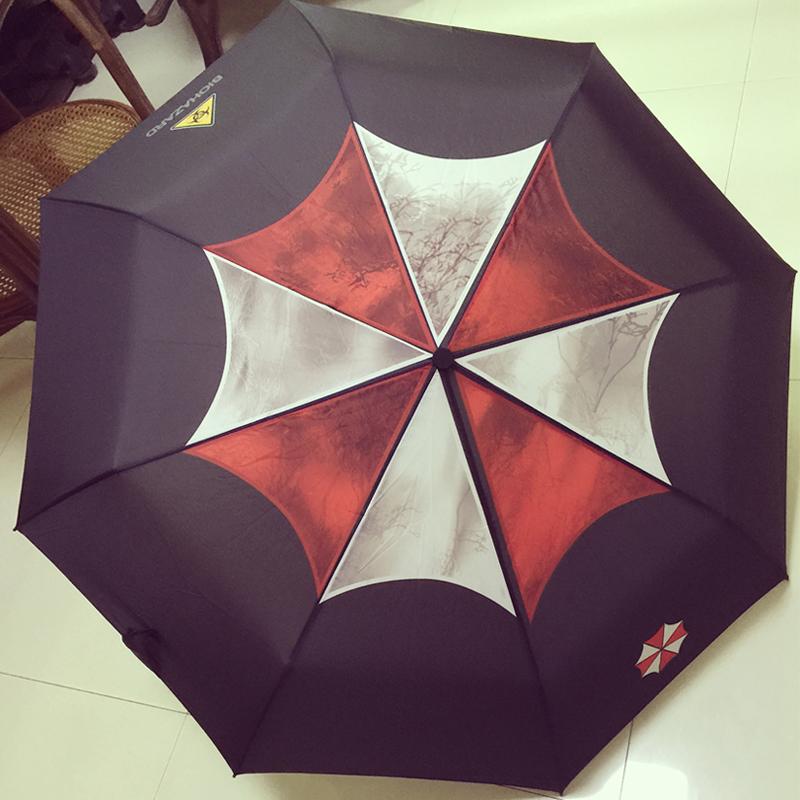包邮生化危机生化6 安布雷拉主题雨伞保护伞里昂动漫晴雨伞三折伞