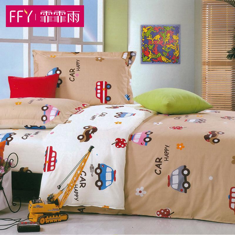 霏霏雨 定做兒童床單單件純棉卡通1.2m1.5米單人床學生幼兒園被單