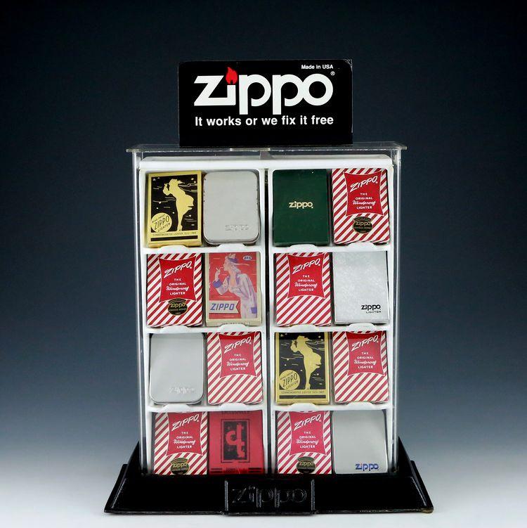 原装正品zippo打火机早期展示架 14