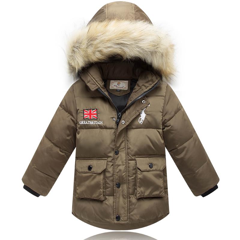 Распродажа 681 моды Корейский мальчиков новый детский пуховик вниз куртка почта акциях карандаш Ангелы
