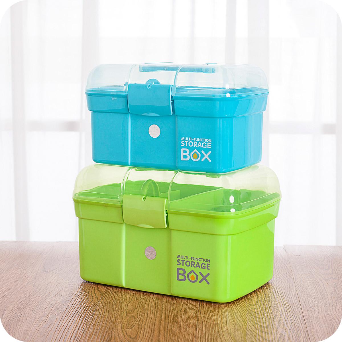 包郵大藥箱急救箱醫藥箱家庭雙層藥箱手提藥品箱家用醫療箱279