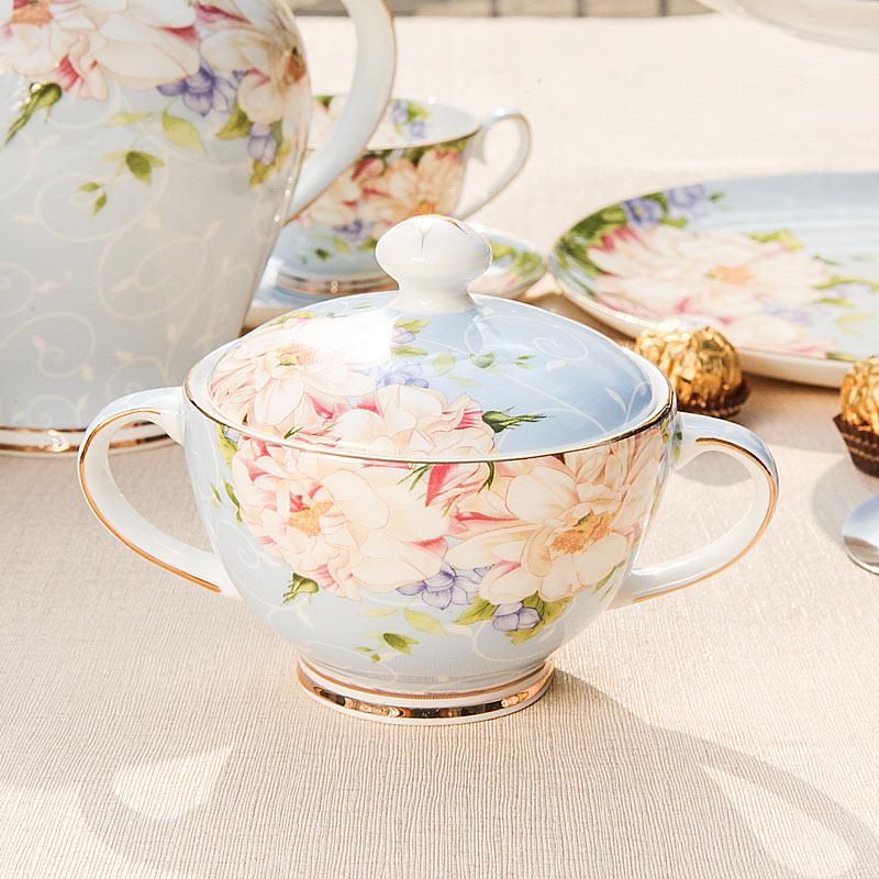 莹辰达咖啡糖缸骨瓷欧式咖啡具配套器具