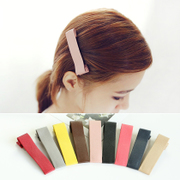 Know Richie fashion leather headgear wide beak clip Barrette Korean version of simple and clean BB clip hair clip bangs clip
