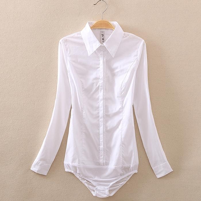 长袖2021秋冬新款纯棉修身白衬衫