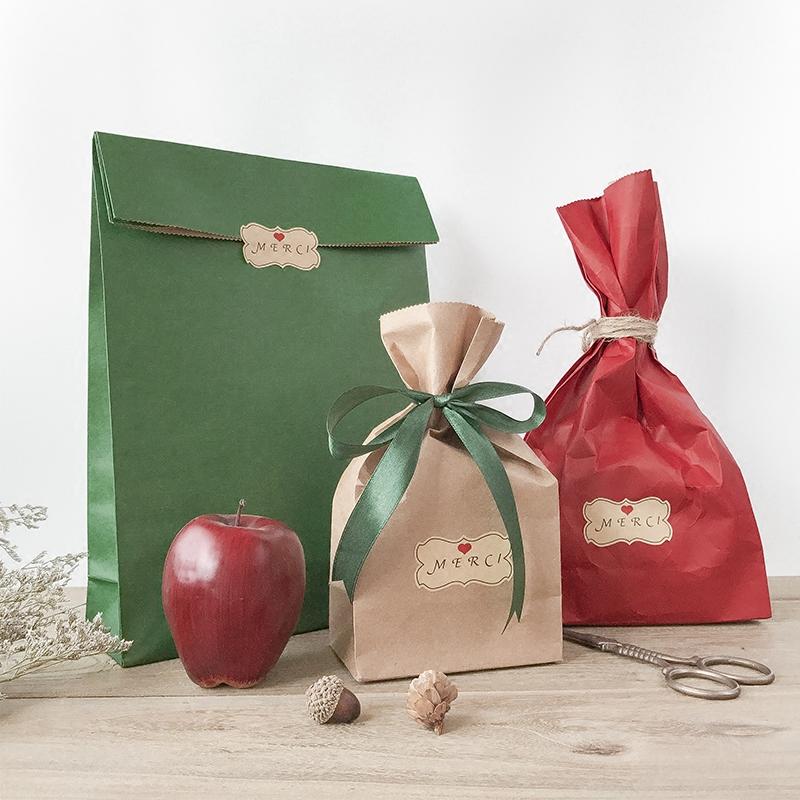 创意商务礼品袋糖果盒纸袋礼物包装袋子回伴手礼礼袋牛皮手提袋