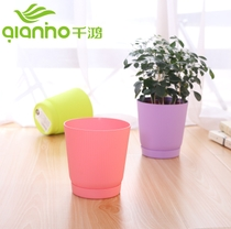 Thousand Hong creative thickening round small flower pots plastic succulents flower pots green radish balcony potted vegetable pots