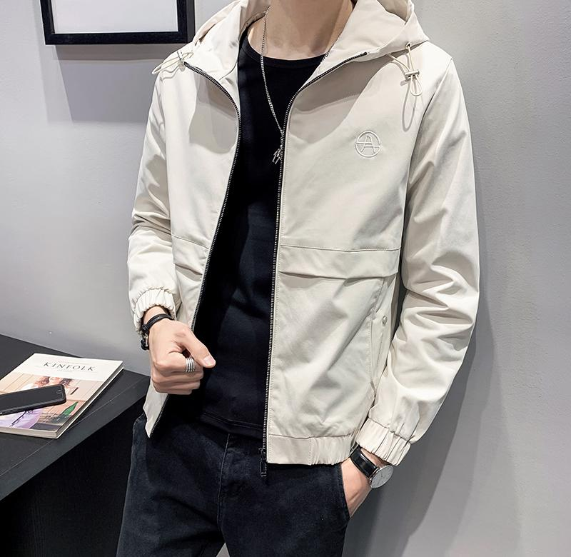 ? Spring new Hooded Jacket Small s Korean slim short jacket youth handsome simple top 160