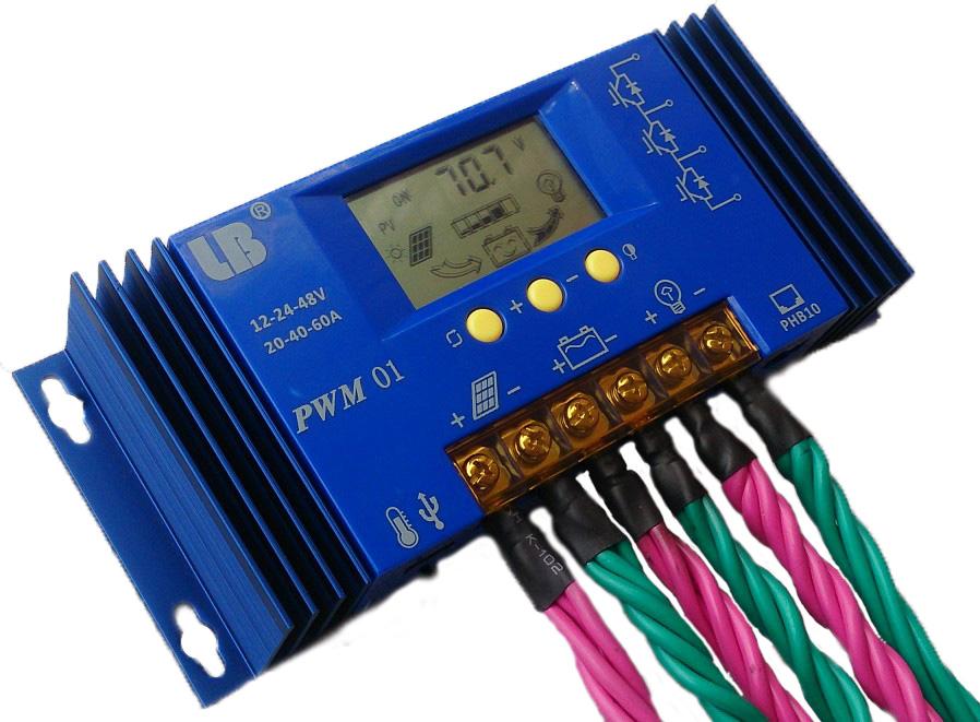 Пакет электронной почты 12V24V Солнечный контроллер 60A литий железа фосфат батареи напряжения универсальной автоматической идентификации