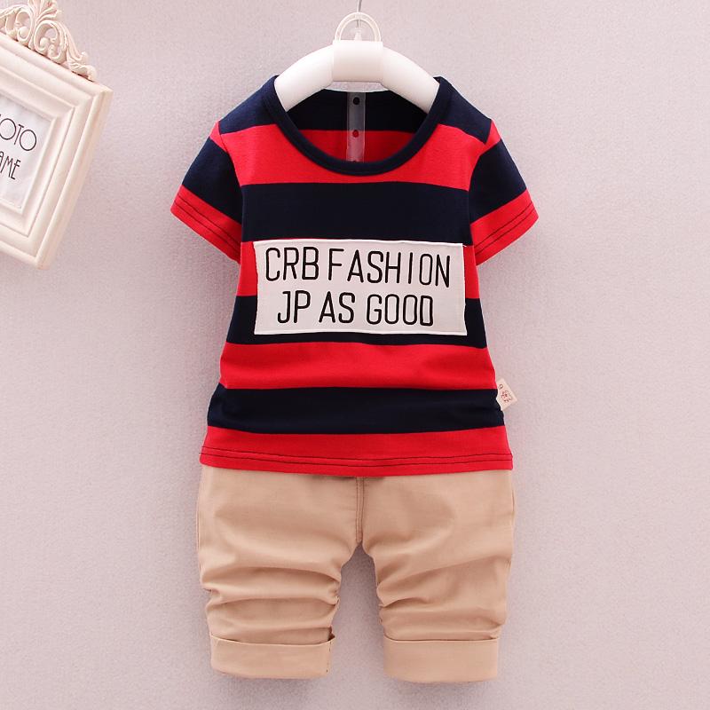 男童套裝夏裝2016新 潮寶寶兒童套裝女童兩件套短袖套裝