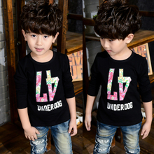 Children with boys floral digital long-sleeved T-shirt han edition of new fund of 2015 autumn render unlined upper garment to coat O 2 to 7 years old