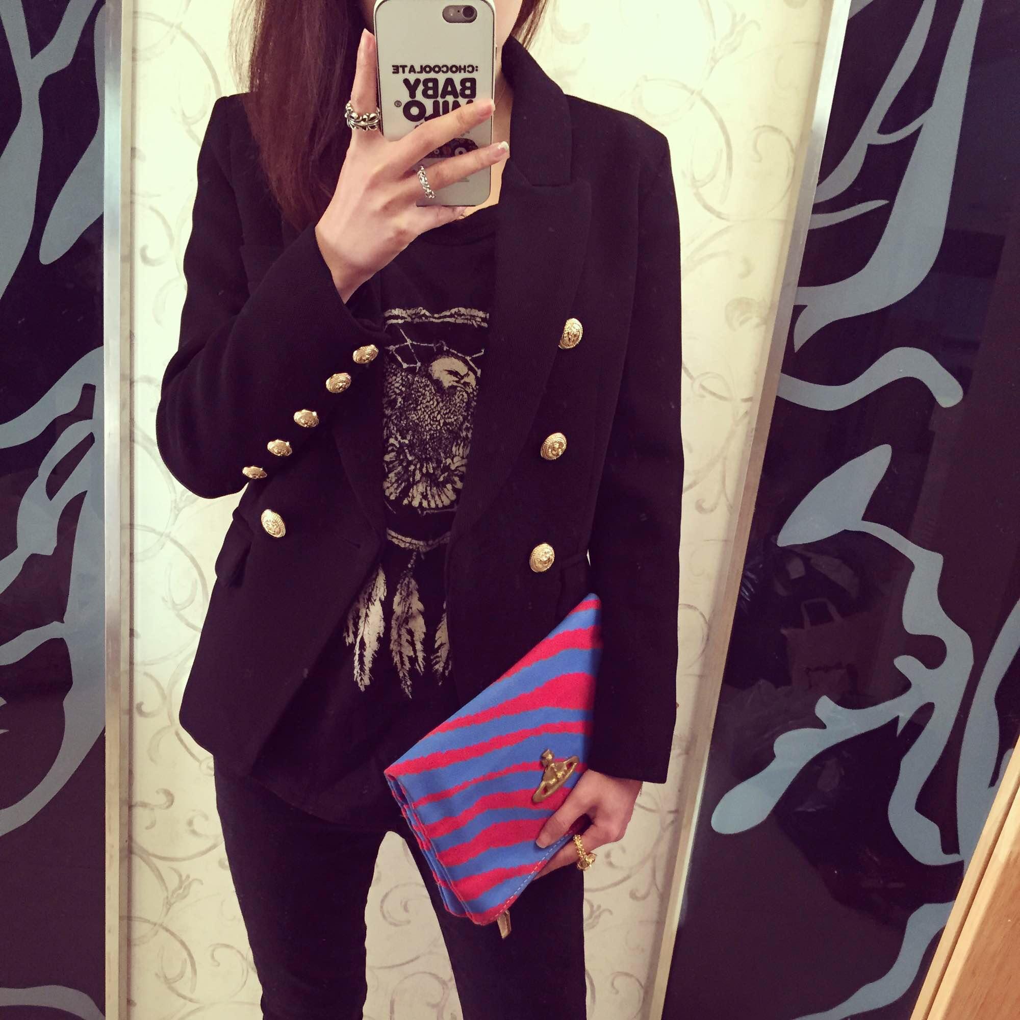 Осенью и зимой новая Корея версия покупки большой грудью костюм куртку (Весна Amoi добавил цвета)