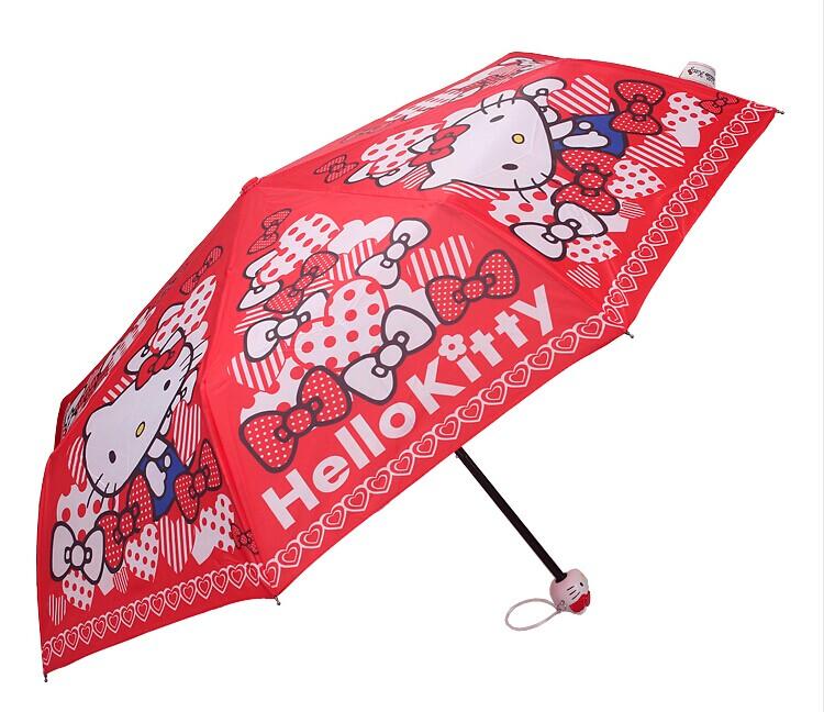 Девочки милые Привет Китти зонтик ребенка Sun портативный 30 процентов УФ зонтик зонтик