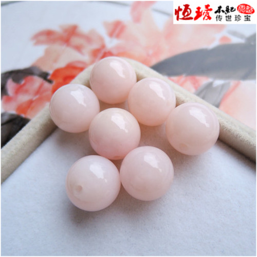 Pure natural powder opal beads 12mm Duobao hand string beads