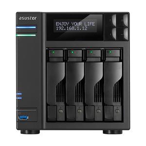 领30元券购买ASUSTOR 华芸 AS6204T 网络存储器 NAS云存储 4盘位 8G 0TB 标机 兼容西部数据金盘/红盘/企业级硬盘希捷酷狼