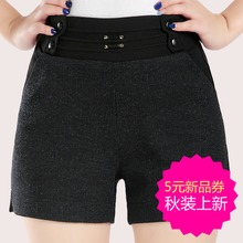 Vogue of new fund of 2015 autumn winters is recreational the tension and women shorts code female middle-aged woman boots pants pants cloth shorts
