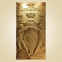 Artificial sandstone European sandstone embossed living room landscape wall Mural background sandstone European characters